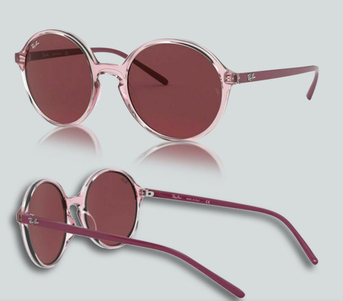 Authentic Ray Ban 0RB4304 640075 Transparent Pink Sunglasses