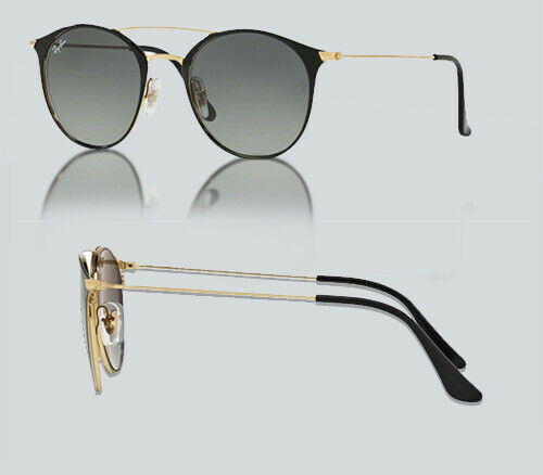 Authentic Ray Ban 0RB3546 187/71 GOLD TOP BLACK Sunglasses