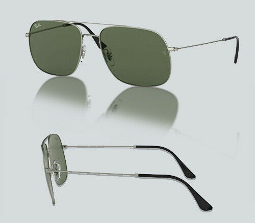 Authentic Ray Ban 0RB 3595 ANDREA 911671 RUBBER SILVER Sunglasses