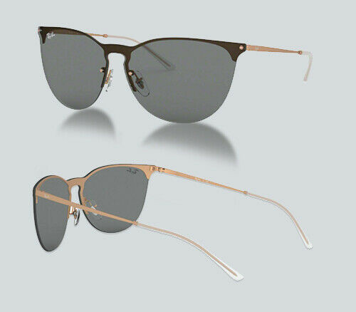 Authentic Ray Ban 0RB 3652 914687 RUBBER COPPER Sunglasses