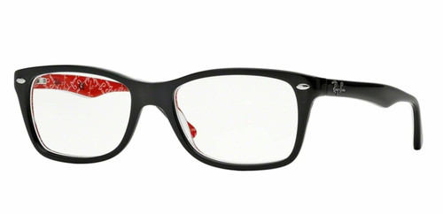 Authentic Ray Ban 0RX5228 2479 TOP BLACK ON TEXTURE RED Eyeglasses