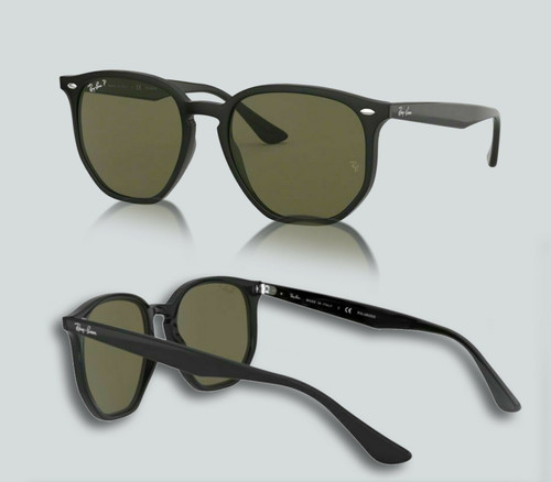 Authentic Ray Ban 0RB4306F Polarized 601/9A Black Sunglasses