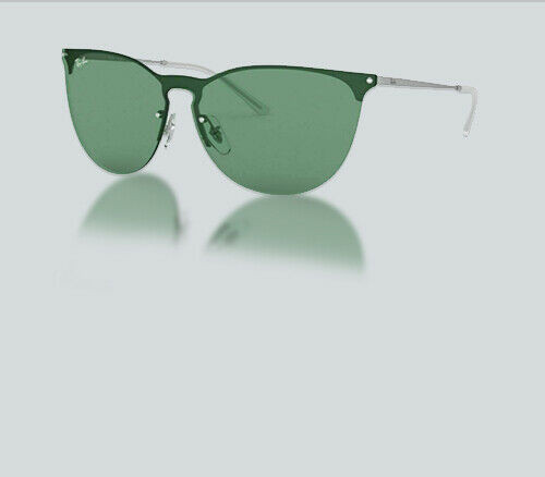 Authentic Ray Ban 0RB 3652 911682 RUBBER SILVER Sunglasses