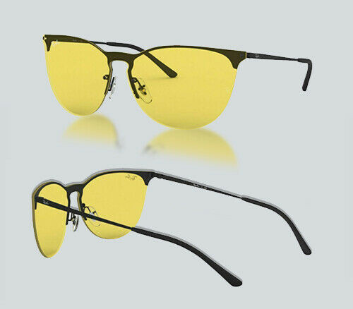 Authentic Ray Ban 0RB 3652 901485 RUBBER BLACK Sunglasses