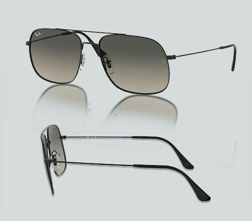 Authentic Ray Ban 0RB 3595 ANDREA 901411 RUBBER BLACK Sunglasses