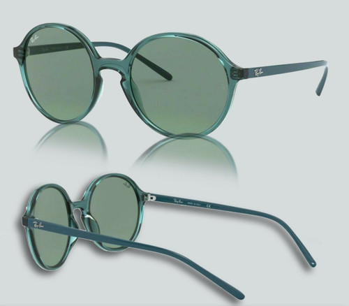 Authentic Ray Ban 0RB4304 643782 Transparent Torquoise Sunglasses