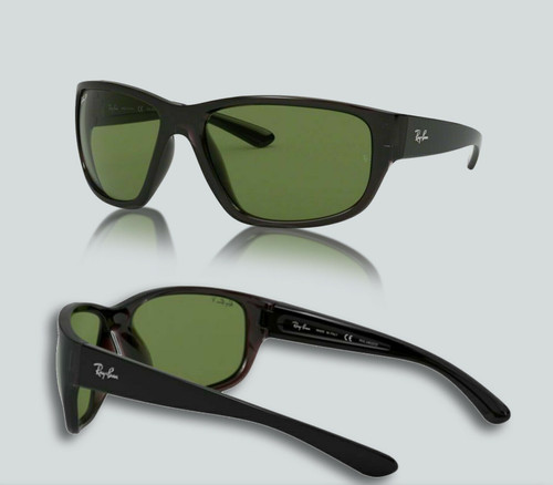 Authentic Ray Ban 0RB4300 Polarized 705/O9 Transparent Grey Sunglasses