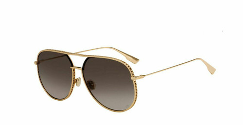 Authentic Christian Dior Diorbydior 0000/86 Rose Gold Sunglasses