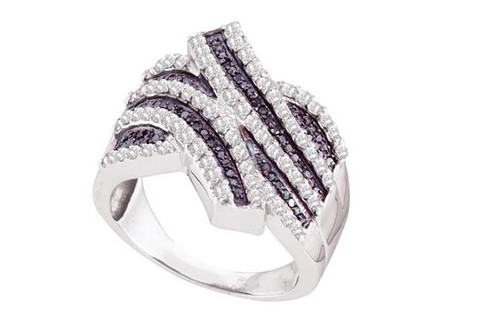 14kt White Gold Diamond Womens Band Ring 1 Cttw