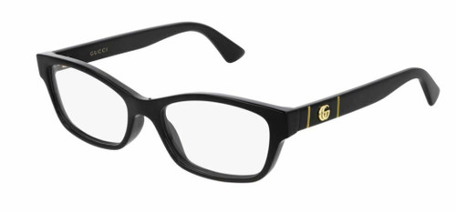 Authentic Gucci GG 0635O 001 Black Eyeglasses