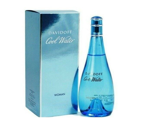 Authentic Cool Water Perfume by Davidoff for Women EDT 3.4 oz New In Box