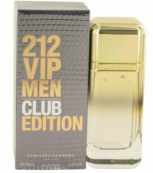 212 VIP Club Edition Cologne by Carolina Herrera for Men EDT 3.4 oz New In Box