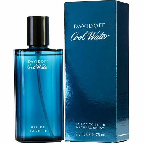 Authentic Cool Water Cologne by Davidoff for Men EDT 2.5 oz New In Box
