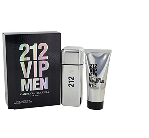 212 VIP 2 Pcs Set For Men  : 3.4 Oz EDT SP + 3.4 Bath And Shower Gel New In Box