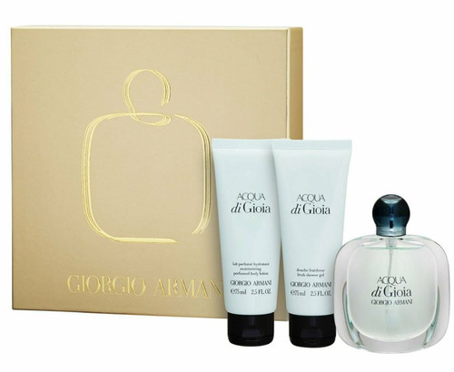 ACQUA DI GIOIA 3 Pcs Set: 3.4 Oz EDP SP + 2.5 Oz SHOWER GEL + 2.5 B/L New In Box