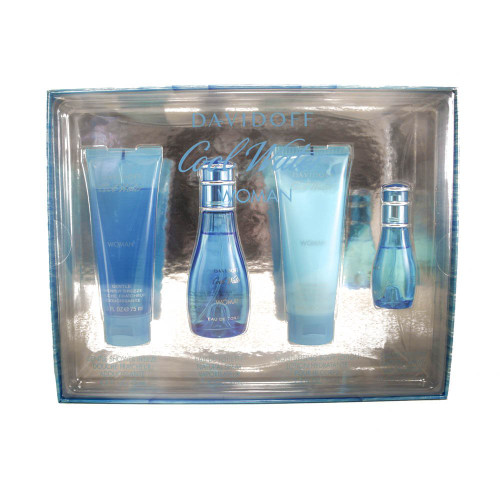Authentic COOLWATER 4 Pcs Set For Women: 1.7 Oz SP New In Box
