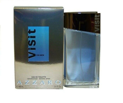 Authentic Azzaro Visit Cologne by Azzaro for Men EDT 3.4 oz New In Box