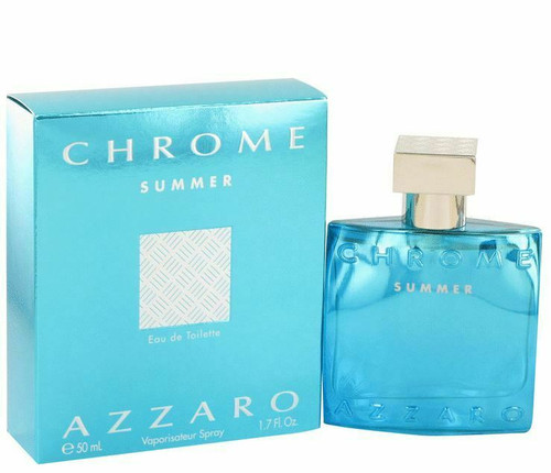 Authentic Chrome Summer Cologne by Azzaro for Men EDT 1.7 oz New In Box