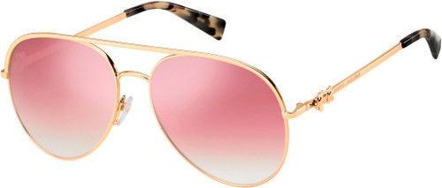 Authentic Marc Jacobs Marc Daisy 2/S 0DDB/VQ Gold Copper/Multipink Sunglasses