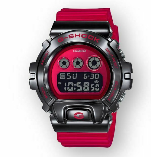 Authentic G-Shock Red Stainless Steel 25th Anniversary Watch GM6900B-4