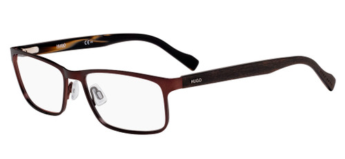 Authentic Hugo 0151 04IN Matte Brown Havana Eyeglasses