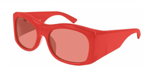 Authentic Balenciaga BB 0001S 001 Red/Red Oversize Unisex Sunglasses