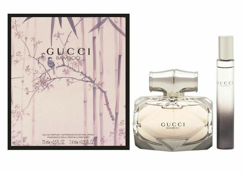 Authentic GUCCI BAMBOO 2 Pcs Set: 2.5 OZ EDP SP For Women New In Box