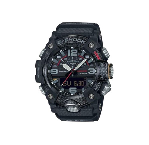 AAuthentic G-Shock Casio Master of G Mudmaster Carbon Core Guard Black GGB100-1A