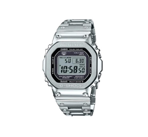 Authentic Casio G-Shock Full Metal Silver 35th Anniversary LTD Watch GMWB5000D-1
