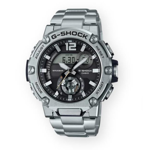 Authentic Casio G-Shock G-Steel Silver Tough Solar Powered Watch GSTB300SD-1A