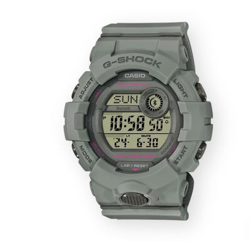 Authentic Casio G-Shock G-SQUAD Gray Bluetooth Women's Watch GMDB800SU-8