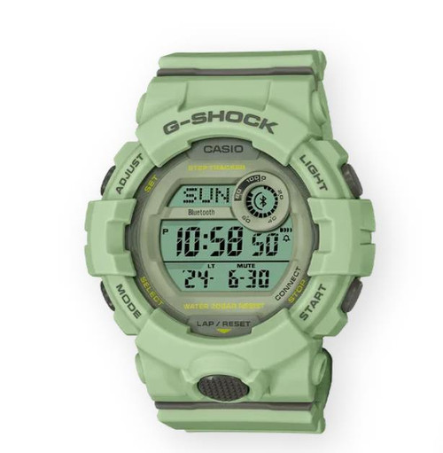 Authentic Casio G-Shock G-SQUAD Light green Bluetooth Women's Watch GMDB800SU-3