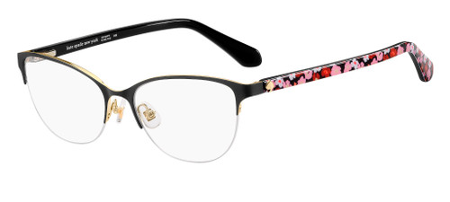 Authentic Kate Spade Adalina 0I46 Black Gold Eyeglasses