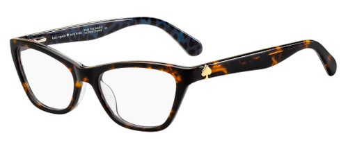 Authentic Kate Spade Alaysha 0086 Dark Havana Eyeglasses