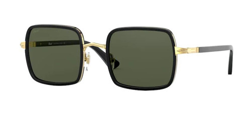 Authentic Persol 0PO 2475S 515/31 Gold & Black/Green Square Unisex Sunglasses