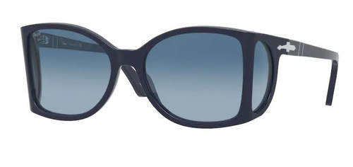 Authentic Persol 0PO 0005 1109Q8 Blue/Azure Gradient Square Men's Sunglasses