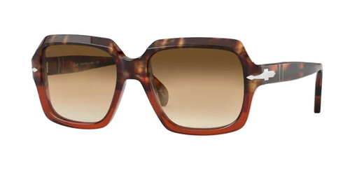 Authentic Persol 0PO 0581S 112151 Brown Tortoise & Bordeaux/Brown Sunglasses