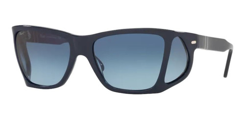 Authentic Persol 0PO 0009 1109Q8 Blue/Azure Irregular Gradient Men's Sunglasses
