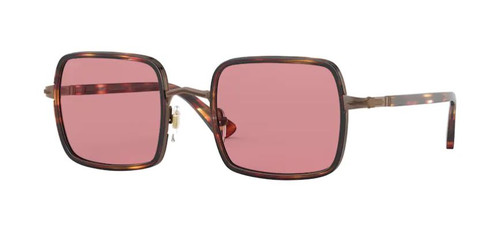 Authentic Persol 0PO 2475S 10814R Brown Stripped Bordeaux Unisex Sunglasses