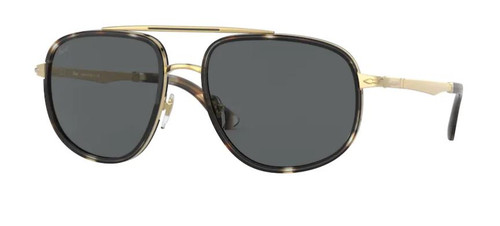 Authentic Persol 0PO 2465S 1100B1 Striped Brown Crystal/Smoke Men's Sunglasses