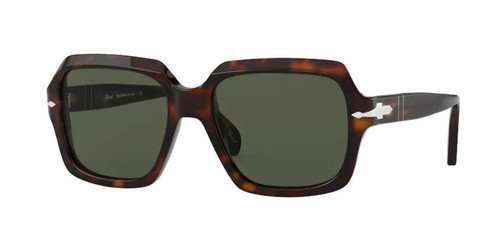 Authentic Persol 0PO 0581S 24/31 Havana/Green Unisex Sunglasses