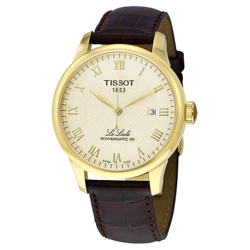 Authentic Tissot Le Locle Powermatic80 Automatic Brown Mens Watch T0064073626300