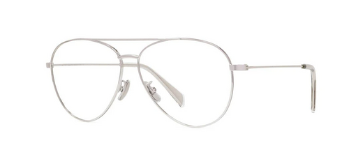 Authentic Celine CL 50048U 016 Silver Pilot Men's Eyeglasses