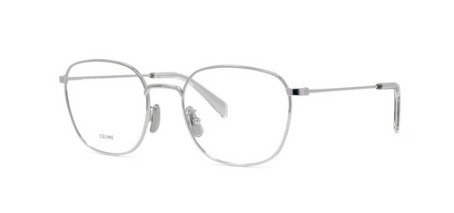 Authentic Celine CL 50073U 016 Silver Soft Square Unisex Eyeglasses