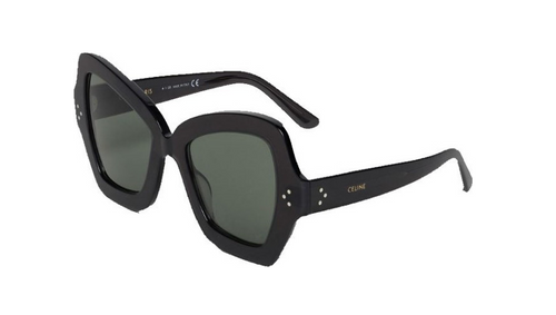 Authentic Celine CL 40067I 20N Black/Green Butterfly Women's Sunglasses