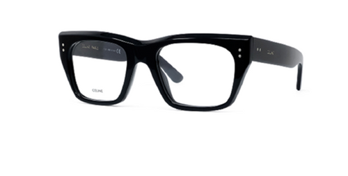 Authentic Celine CL 50034I 001 Black Square Women's Eyeglasses