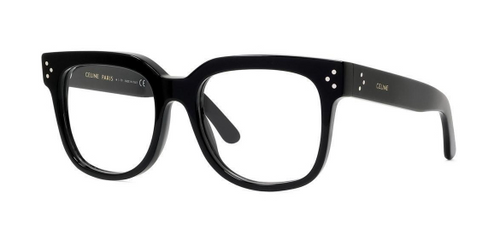 Authentic Celine CL 50041F 001 Black Square Women's Eyeglasses