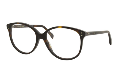 Authentic Celine CL 50042I 052 Havana Round Women's Eyeglasses