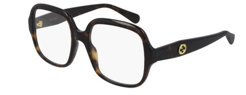 Authentic Gucci GG 0799O 002 Havana Oversized Square Women's Eyeglasses