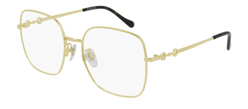 Authentic Gucci GG 0883OA 003 Gold Oversized Square Women's Eyeglasses